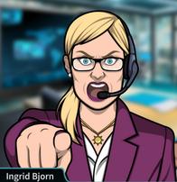 Ingrid apuntando con su dedo 4