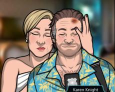 Karen y Frank juntos de nuevo