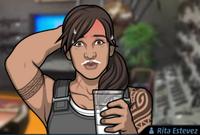 Rita Bebiendo leche