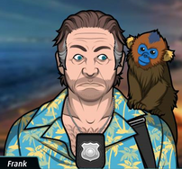 Frank con un Mono