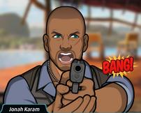 Jonah disparando su pistola