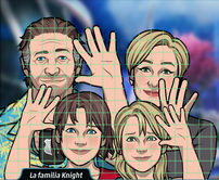 La familia Knight despidiendose - Utopia virtual