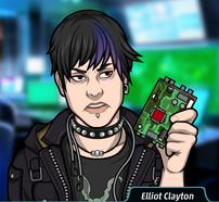 Elliot con un disco duro