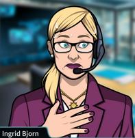 Ingrid sudando 2