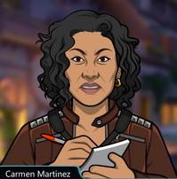 Carmen Escribiendo sus Notas 3