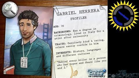 Criminal Case The Conspriacy - Introducing Gabriel Herrera, Profiler in your upcoming adventure!