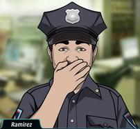 Ramirez Riendo silenciosamente