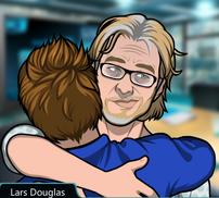 Lars y Jack abrazo