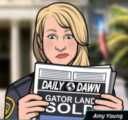 Amy gazete okurken