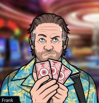 Frank Jugando a las cartas