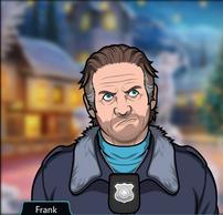 Frank vistiendo un abrigo