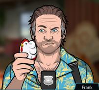 Frank con un temporizador