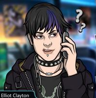 Elliot hablando por telefono
