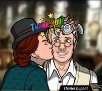 Maddie besando a Charles en mejilla