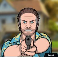 Frank Sacando su Pistola