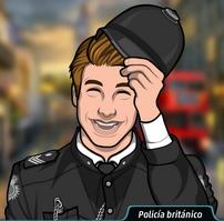 Jack quitandose el disfraz de policía