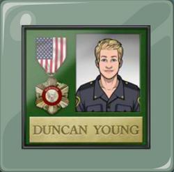 Désiré Bower quería otorgar esta medalla a Duncan