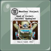 El documento sobre el proyecto del tiempo encabezado por el Coronel Spangler