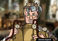 Charles con un vaporoso
