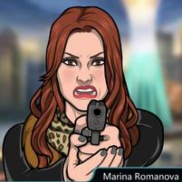 Marina Con su pistola 1