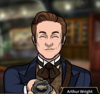 Arthur Dando una insignia