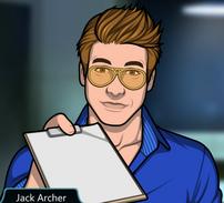 Jack entregando un portapapeles
