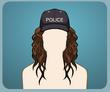 Polis Şapkası Kıvırcık
