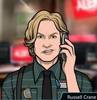 Russell Con el teléfono, descontento