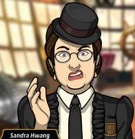 Sandra en Un Crimen Hípico