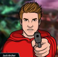 Jack sacando su arma 3