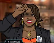 Gloria Protegiéndose los ojos