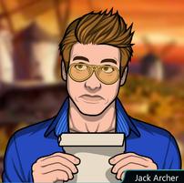 Jack sosteniendo un pergamino