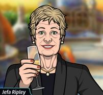 Ripley Con una copa de champaña