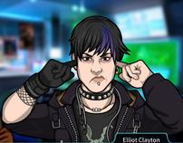 Elliot tapándose los oídos
