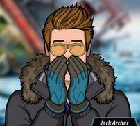 Jack cubriéndose la nariz