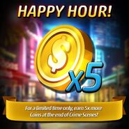 HappyHour 5x more Coins2016