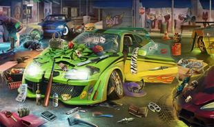 Auto de Carreras Muerte sobre Ruedas