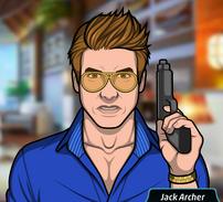 Jack con su pistola serio 2