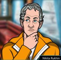 Nikita llevando el uniforme de prisión