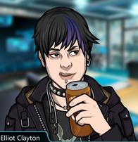 Elliot sosteniendo una lata