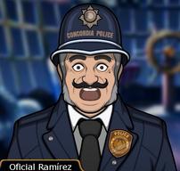 Oficial Ramirez en Perder la Cabeza