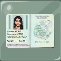 Pasaporte de Ezra Hope