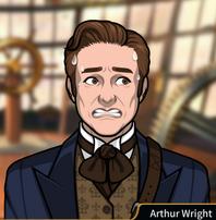 Arthur sudando