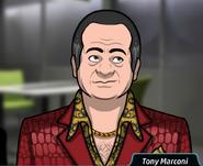 Tony en La Muerte es Pera
