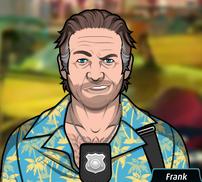 Frank Sonriendo Sarcasticamente