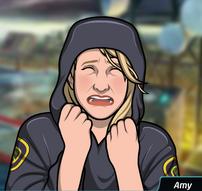 65 Amy Llorando (con el abrigo puesto)