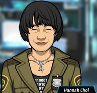 Hannah Sonriendo