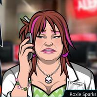 Roxie Con el teléfono, triste