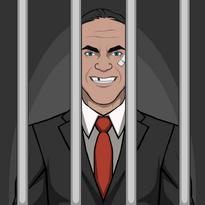 Dennis en prision