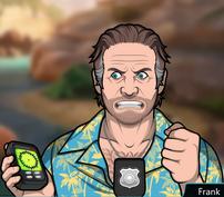 Frank Usando un GPS